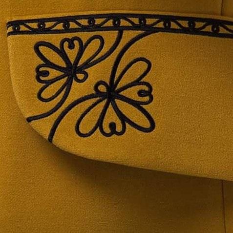 """Пальто """"Злато"""" Желтый итальянская ткань (50% ка 2KOLYORY - фото 2"""