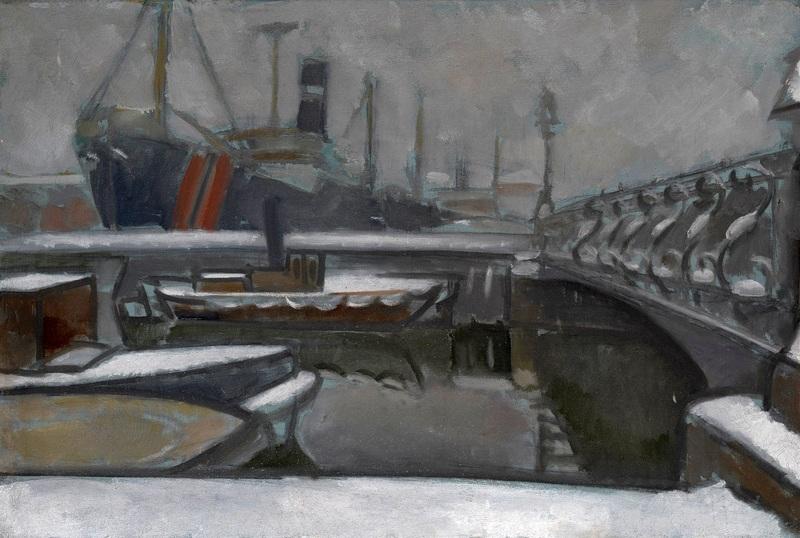 Зима в Санкт-Петербурге  печать на холсте, натянут Баранов-Россине Владимир - фото 1