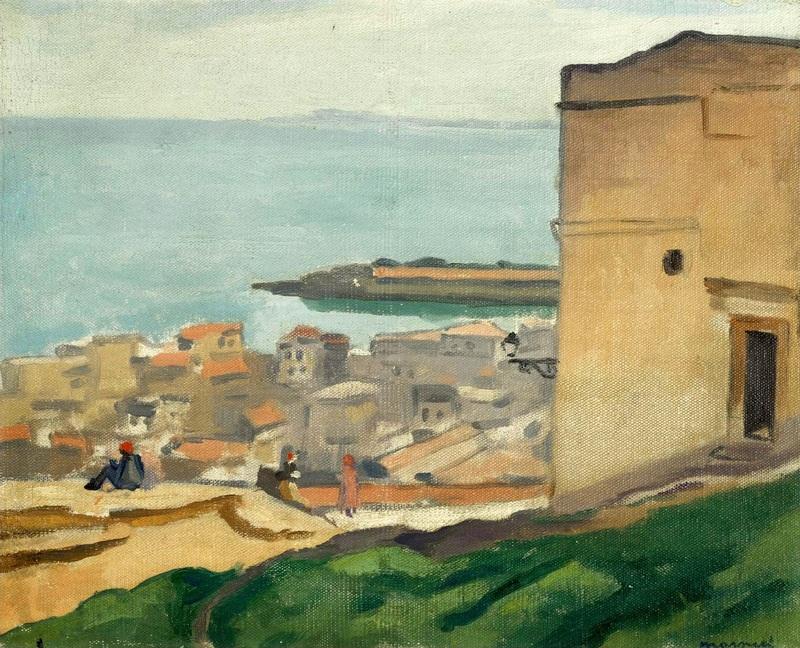 Вид из крепости  печать на холсте, натянут Марке Альбер - фото 1