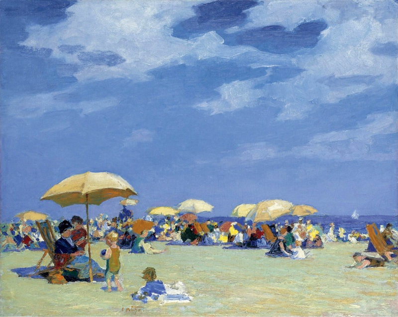 Beach at far rockaway  печать на холсте, натянут Потхаст Эдуард Генри - фото 1