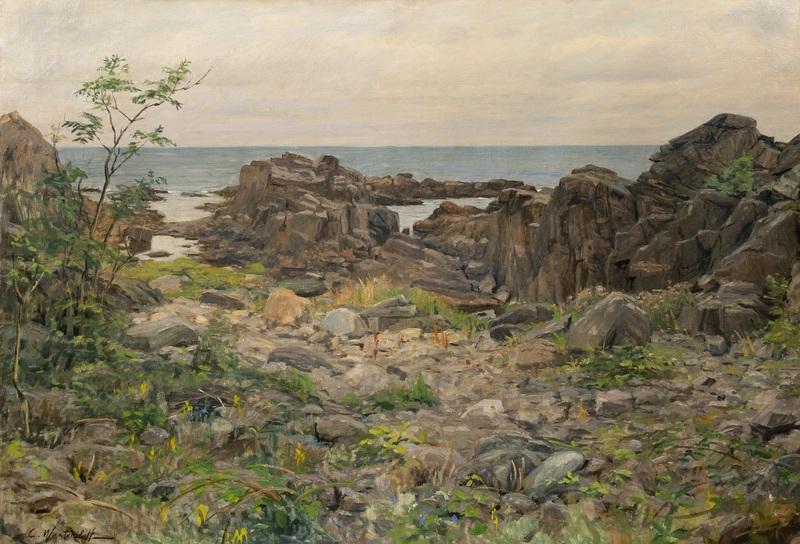 Скалистый берег  печать на холсте, натянут Вещилов Константин - фото 1
