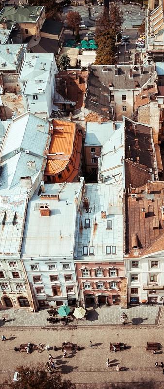 Львов сверху №1  печать на холсте, натянут UkrainArt - фото 3