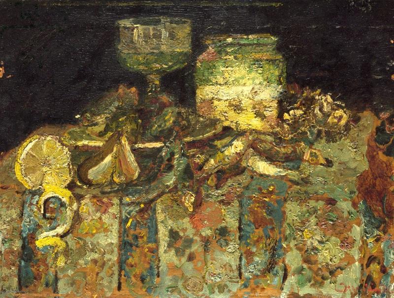 Натюрморт с устрицами и рыбой  печать на холсте, натянут Монтичелли Адольф Жозеф Тома - фото 1