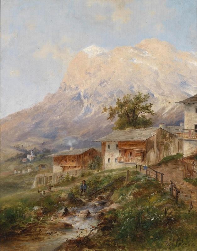 У Кортино в долине Импреза  печать на холсте, натянут Барбарини Эмиль - фото 1