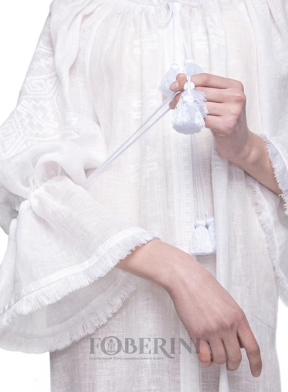 """Туніка """"Перлина"""" Білий Льон 100% FOBERINI - фото 6"""