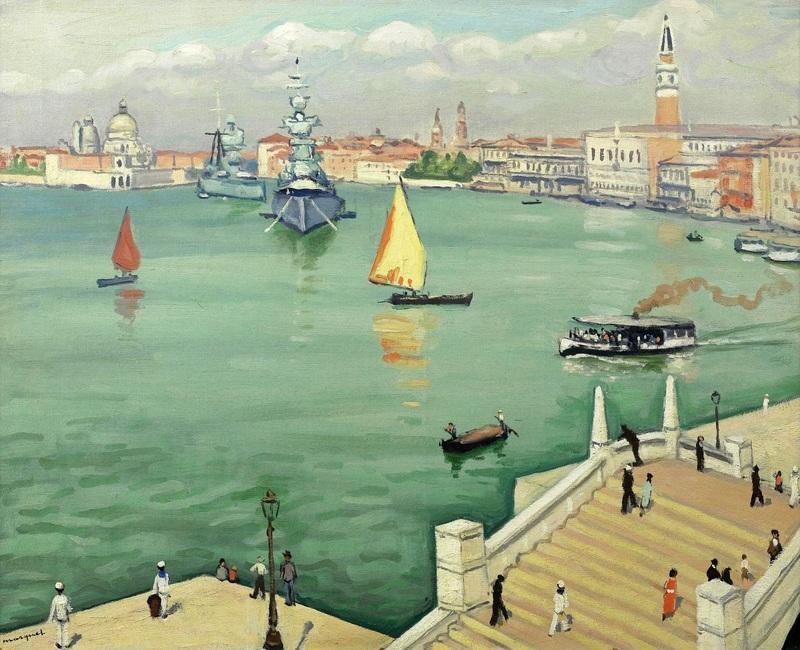 Большой канал в Венеции  печать на холсте, натянут Марке Альбер - фото 1