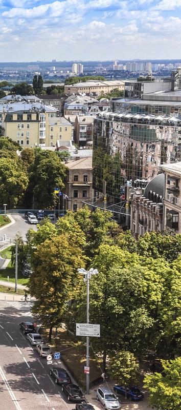 Вид с колокольни Софийского собора. Киев №1  печать на холсте, натянут UkrainArt - фото 4