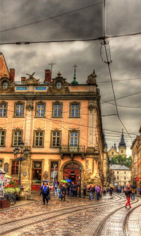 Площадь Рынок во Львове №1  печать на холсте, натянут UkrainArt - фото 3