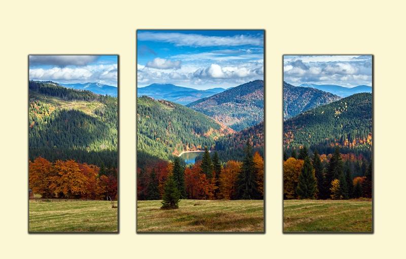Карпаты осенью №1  печать на холсте, натянут UkrainArt - фото 1