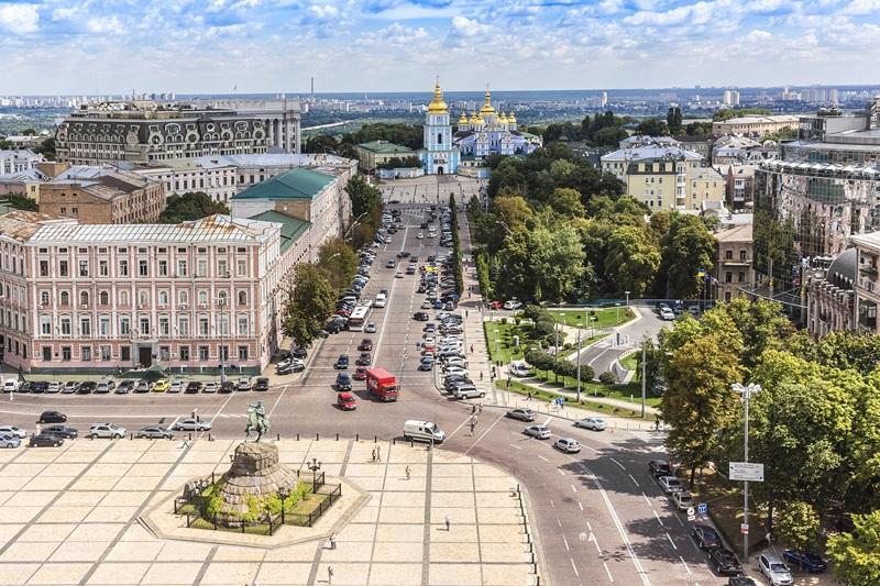 Вид с колокольни Софийского собора. Киев  печать на холсте, натянут UkrainArt - фото 1