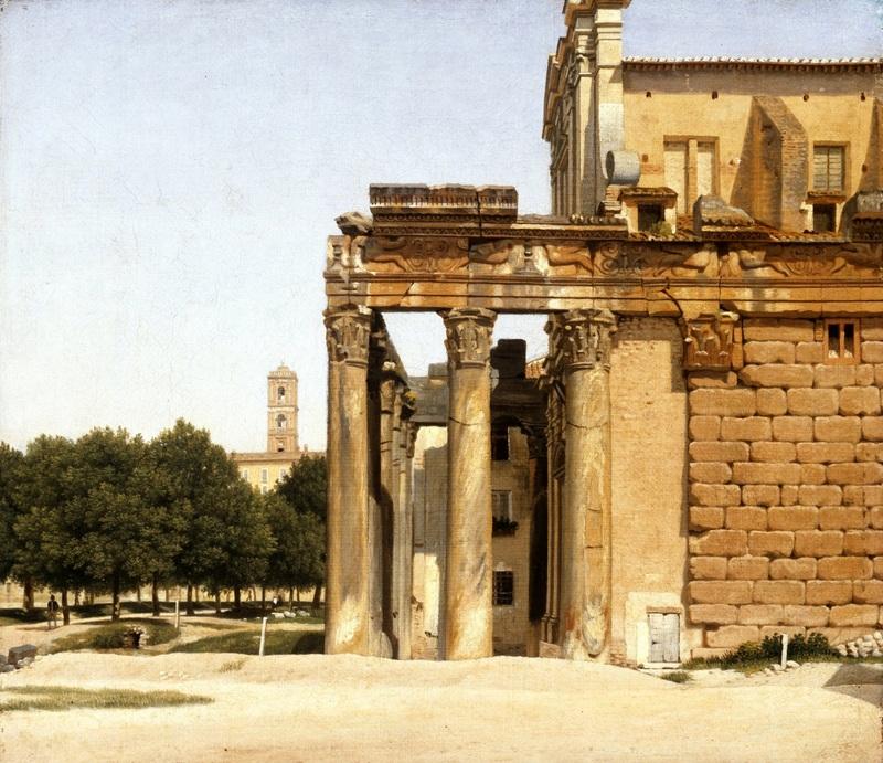 Вид на Виа Сакра, Рим  печать на холсте, натянут Эккерсберг Кристоффер Вильхельм - фото 1
