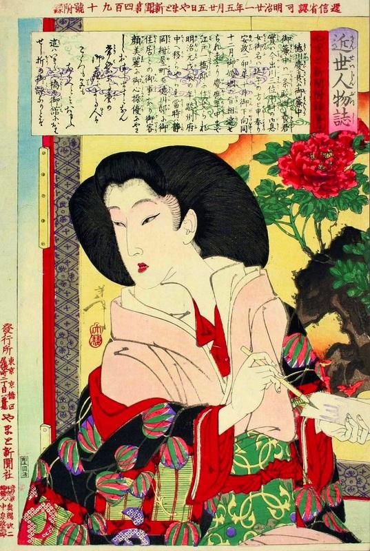 Tokugawa mikako  печать на холсте, натянут Цукиока Еситоси - фото 1