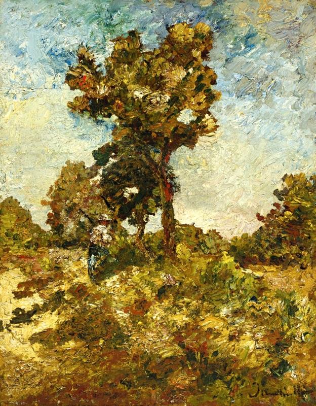 Деревья  печать на холсте, натянут Монтичелли Адольф Жозеф Тома - фото 1