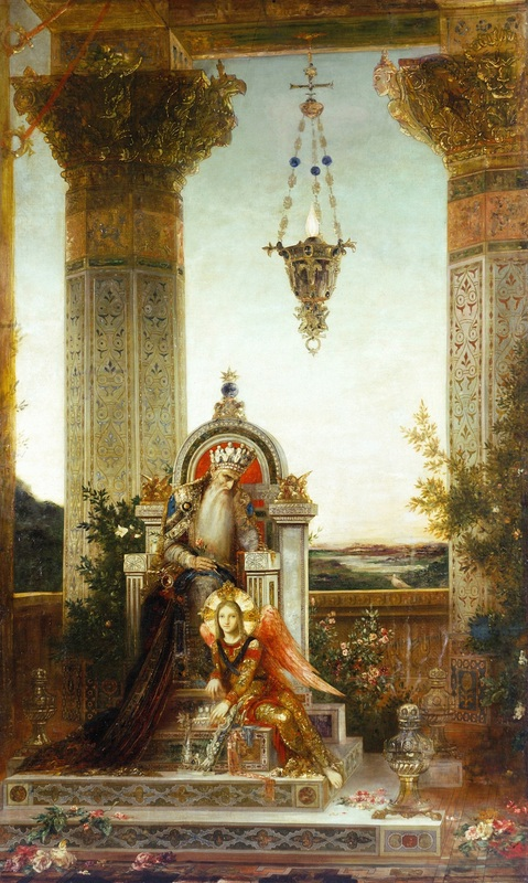 Царь Давид  печать на холсте, натянут Моро Гюстав - фото 1