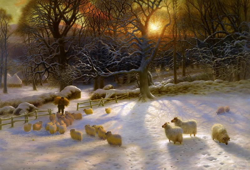 Короткие зимние дни  печать на холсте, натянут Фаркухарсон Джозеф - фото 1