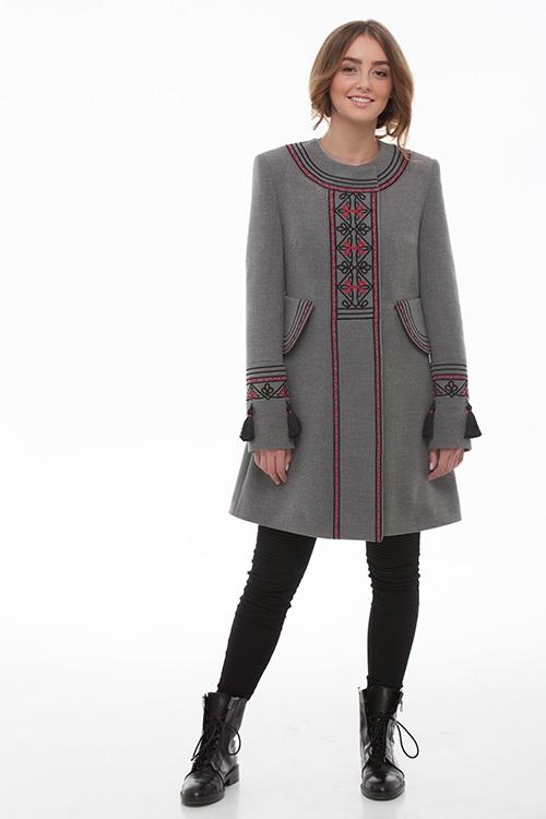 """Пальто """"Два кольори"""" Серый итальянская ткань (50% ка 2KOLYORY - фото 1"""