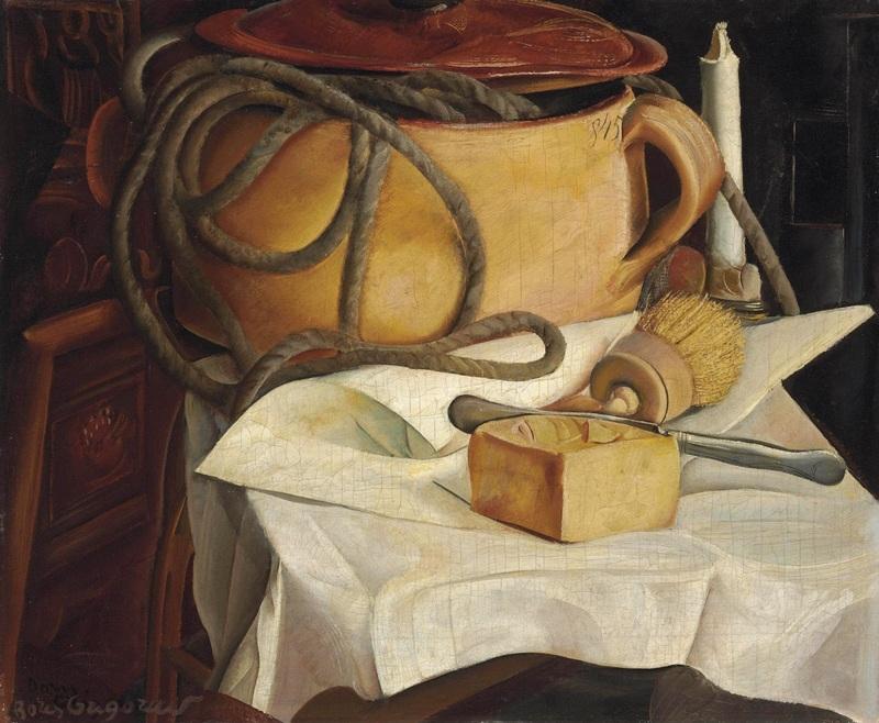 Натюрморт со свечой  печать на холсте, натянут Григорьев Борис - фото 1