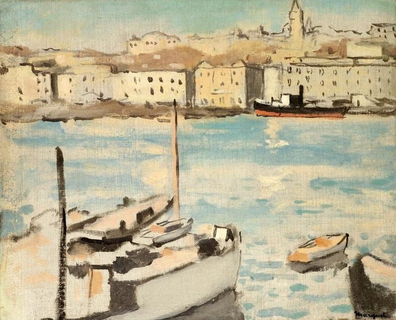Марсель, Старый порт №2  печать на холсте, натянут Марке Альбер - фото 1
