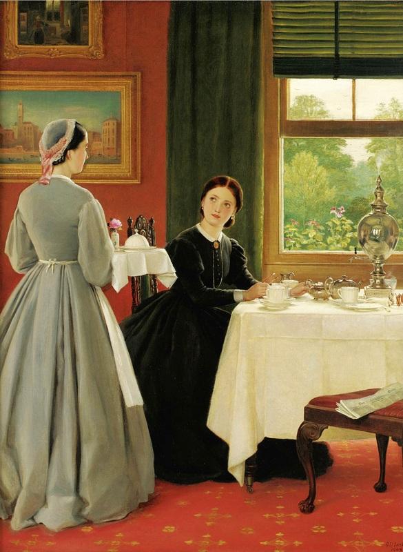 Послеобеденный чай  печать на холсте, натянут Лесли Джордж Данлоп - фото 1