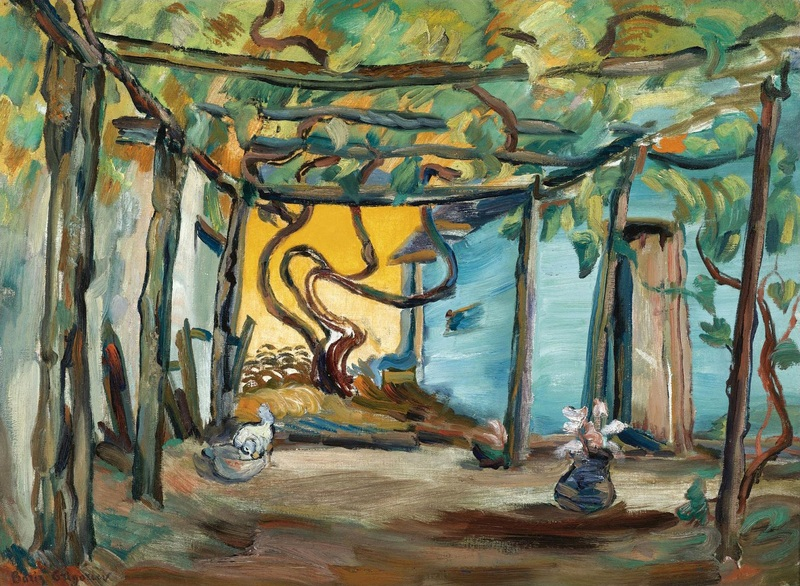 Терраса на вилле Борисэлла  печать на холсте, натянут Григорьев Борис - фото 1