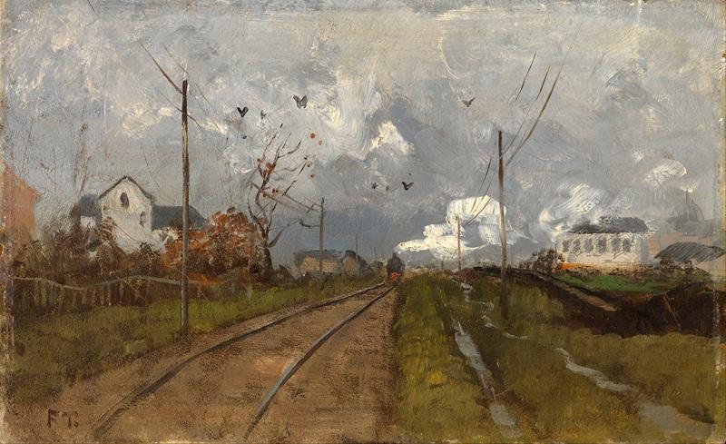 Поезд  печать на холсте, натянут Таулов Фриц - фото 1