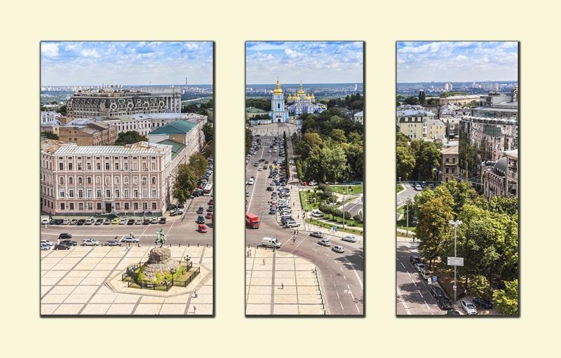Вид с колокольни Софийского собора. Киев №1  печать на холсте, натянут UkrainArt - фото 1