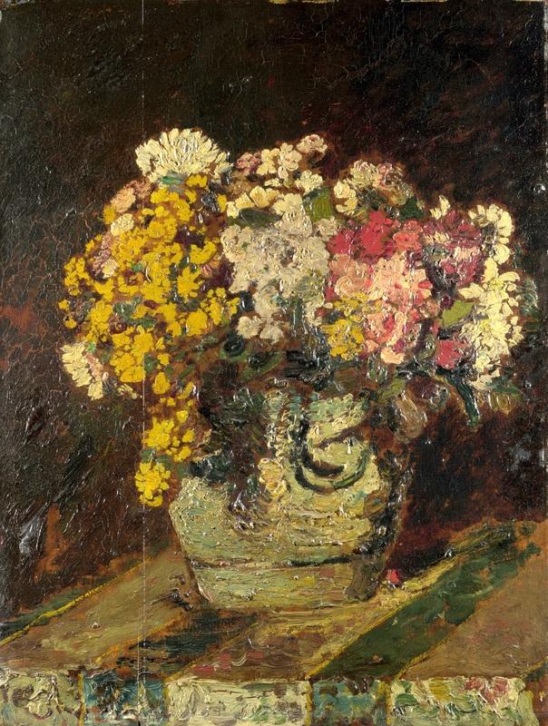 Ваза диких цветов  печать на холсте, натянут Монтичелли Адольф Жозеф Тома - фото 1