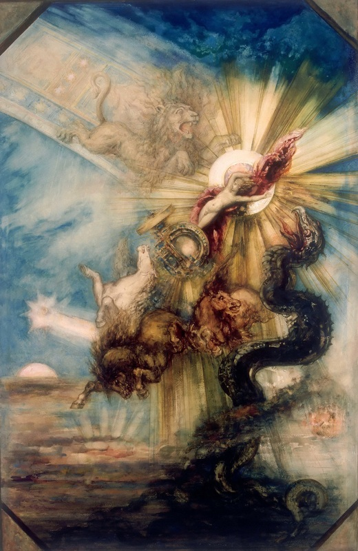 Падение Фаэтона  печать на холсте, натянут Моро Гюстав - фото 1