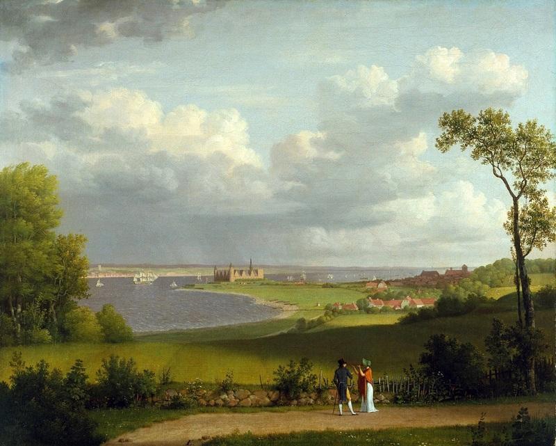 Вид к северу от замка Кронборг  печать на холсте, натянут Эккерсберг Кристоффер Вильхельм - фото 1