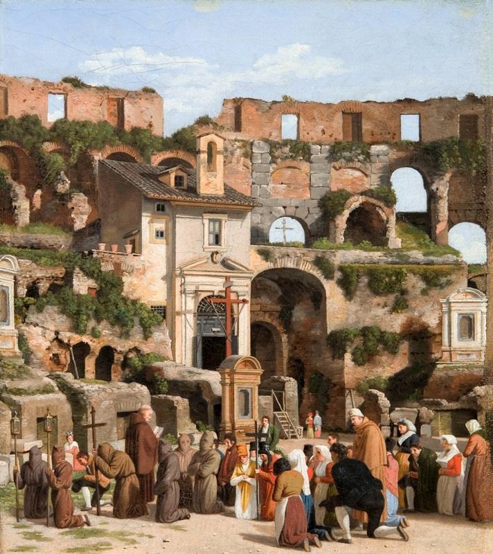 Интерьер Колизея в Риме 2  печать на холсте, натянут Эккерсберг Кристоффер Вильхельм - фото 1