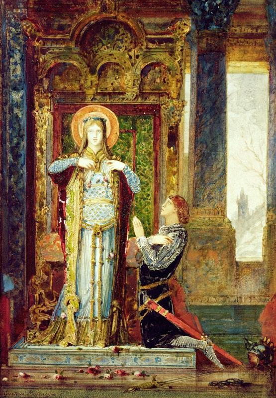 Святая Елизавета Венгерская или чудо с розами  печать на холсте, натянут Моро Гюстав - фото 1