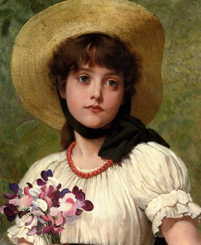 В шляпе  печать на холсте, натянут Лесли Джордж Данлоп - фото 1