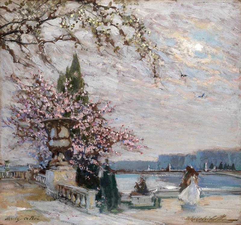 Весна в Версале  печать на холсте, натянут Вещилов Константин - фото 1