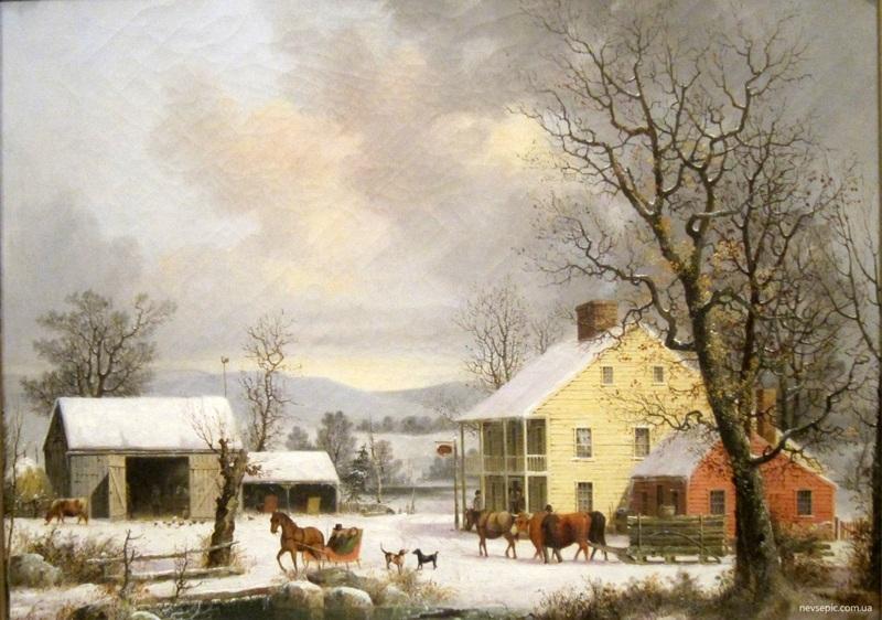 Зима в стране  печать на холсте, натянут Дуррие Джордж Генри - фото 1