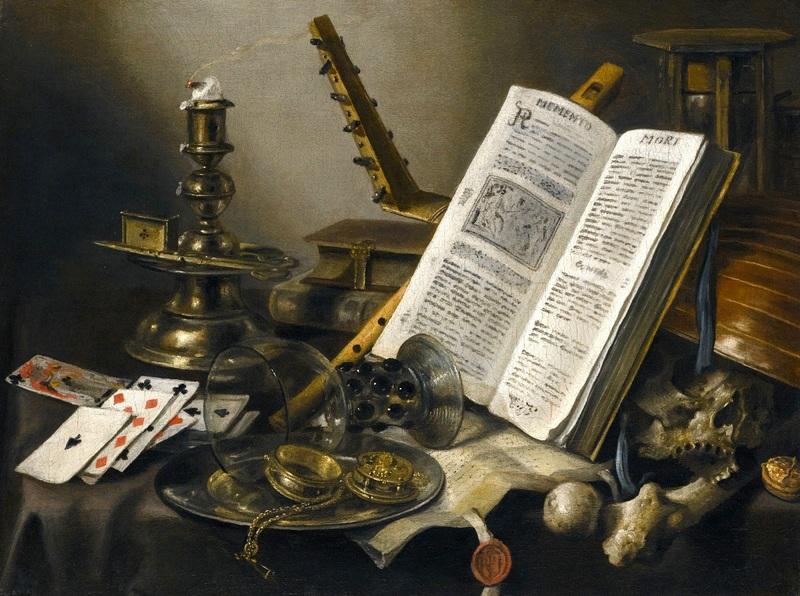 Натюрморт Vanitas №3  печать на холсте, натянут Клас Питер - фото 1
