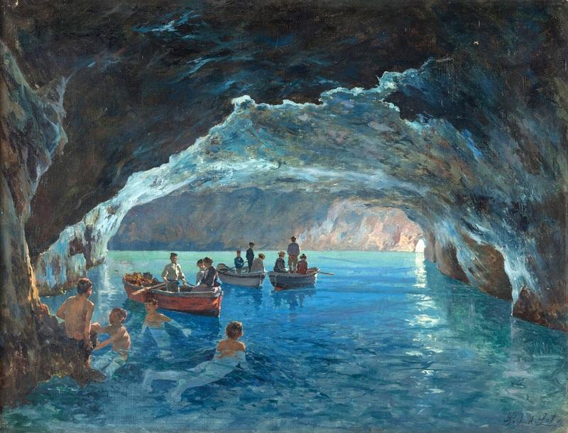 La grotta azzurra  печать на холсте, натянут Лето Антонио - фото 1