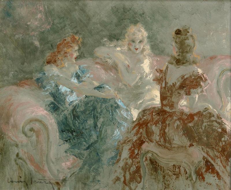 Женская вечеринка  печать на холсте, натянут Икар Луи - фото 1