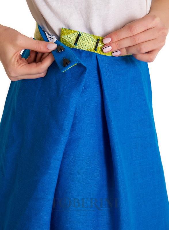 "Вышитая юбка ""Символ""  100% лен FOBERINI - фото 5"