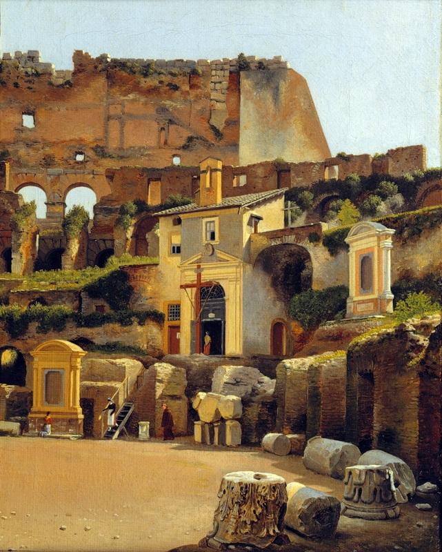 Интерьер Колизея в Риме  печать на холсте, натянут Эккерсберг Кристоффер Вильхельм - фото 1