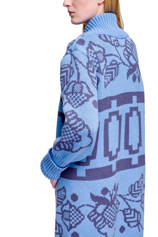 Кардиган Бескида голубовато-серый Голубой 30% шерсть, 70% акрил, дл 2KOLYORY - фото 5