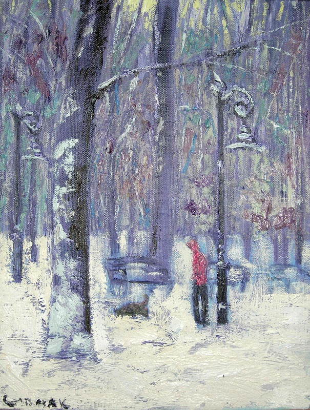 Зимний парк  холст, масло Сыпняк Петр - фото 1