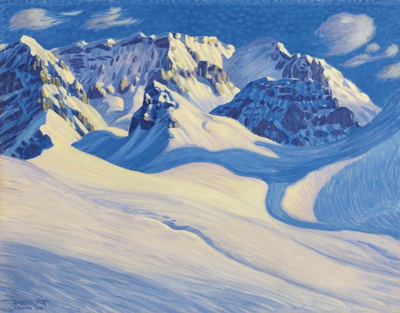 Winter Near Adelboden  печать на холсте, натянут Финк Вальдемар - фото 1