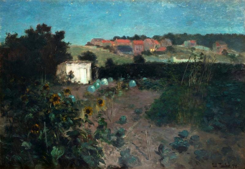 Вечерний пейзаж в Па де Кале  печать на холсте, натянут Таулов Фриц - фото 1