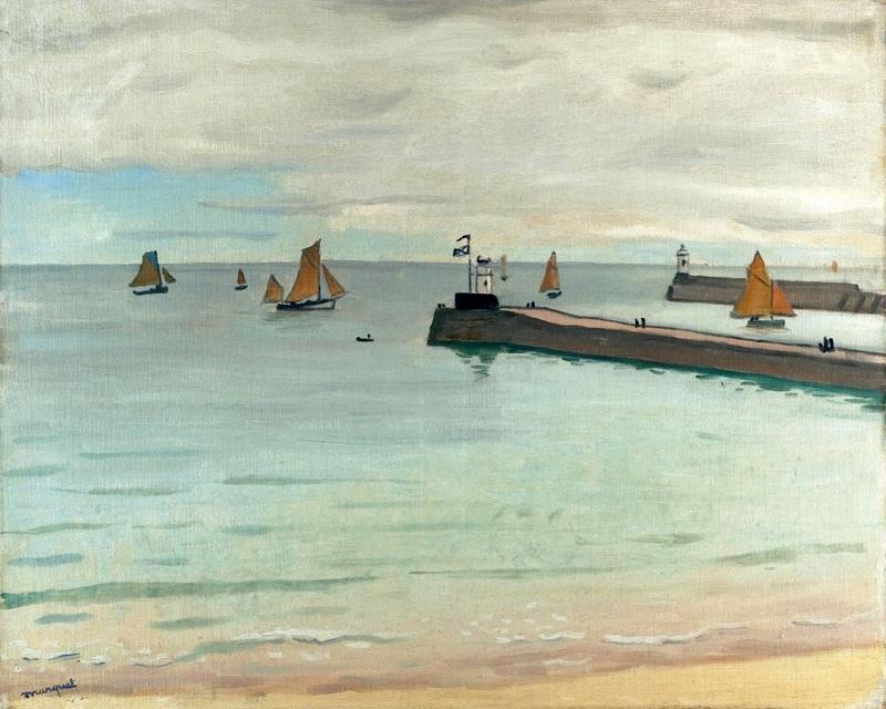 Вход в гавань Ле-Сабль-д'Олон  печать на холсте, натянут Марке Альбер - фото 1