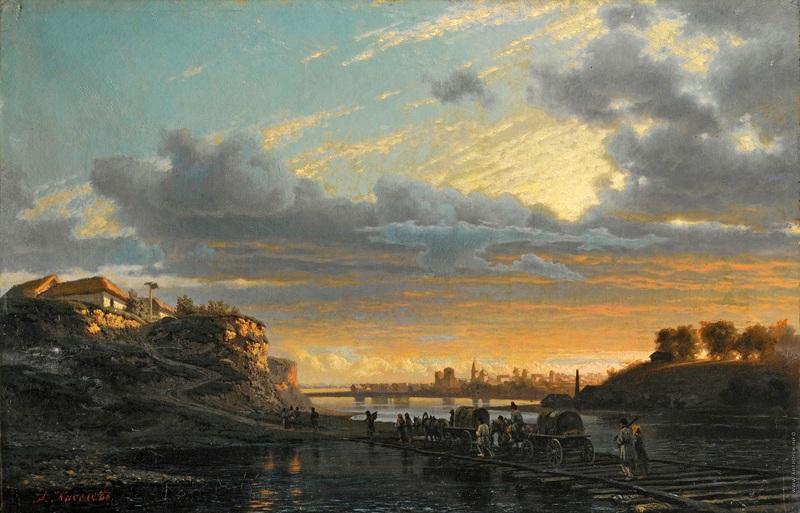 Украинский пейзаж  печать на холсте, натянут Киселев Александр - фото 1