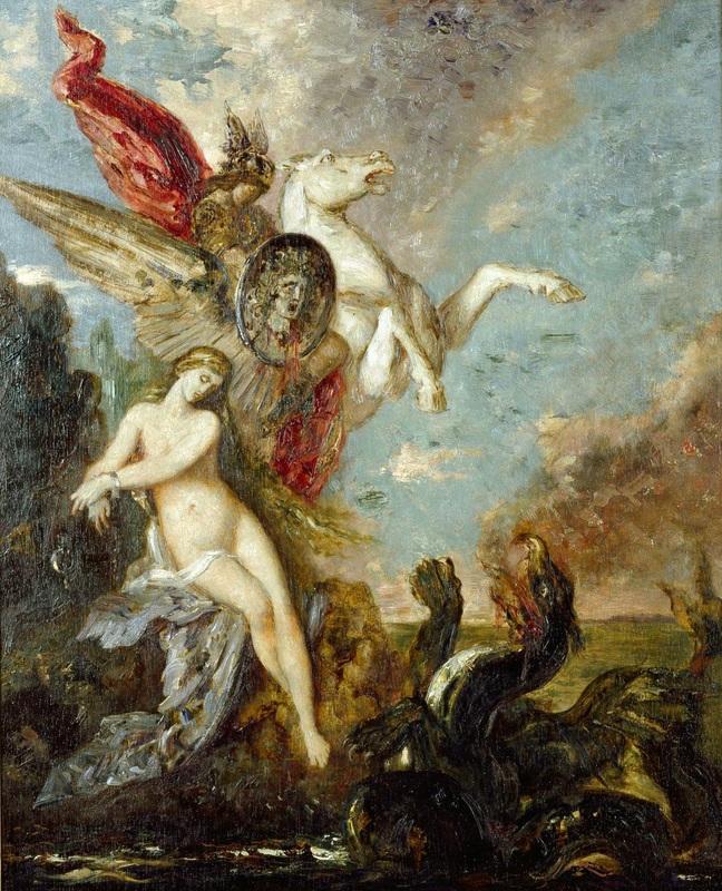 Персей и Андромеда  печать на холсте, натянут Моро Гюстав - фото 1
