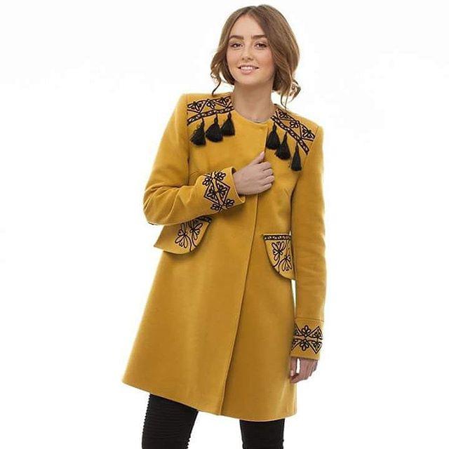 """Пальто """"Злато"""" Желтый итальянская ткань (50% ка 2KOLYORY - фото 4"""
