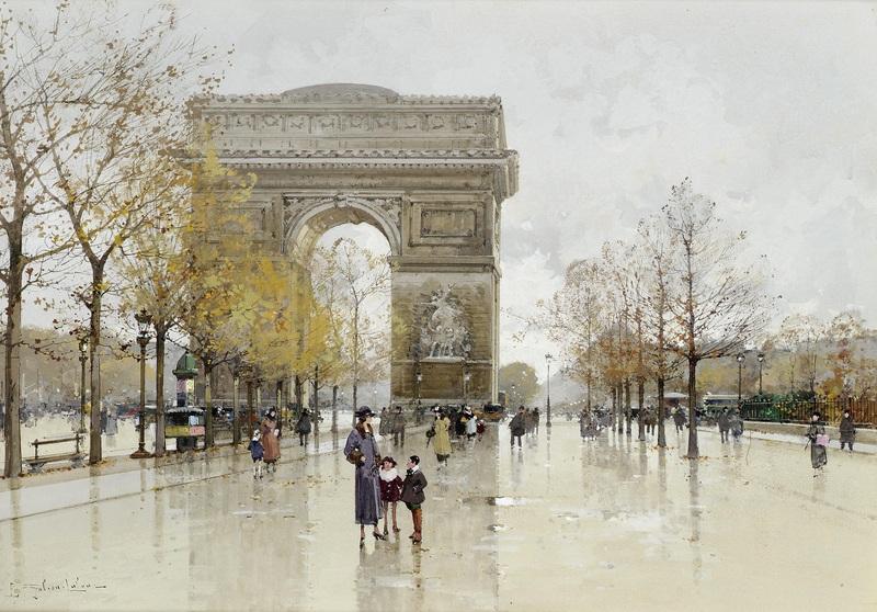 Триумфальная арка  печать на холсте, натянут Гальен-Лалу Эжен - фото 1