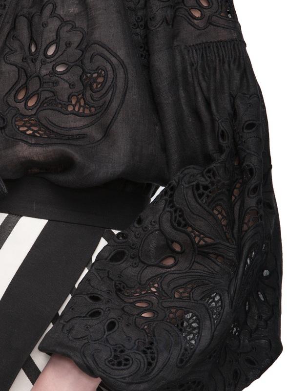 """Вышиванка """"Total Black"""" Черный Лён 100% FOBERINI - фото 5"""