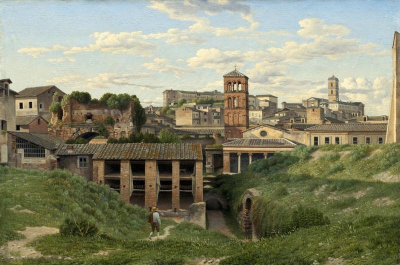 Вид на клоаку Максима, Рим  печать на холсте, натянут Эккерсберг Кристоффер Вильхельм - фото 1